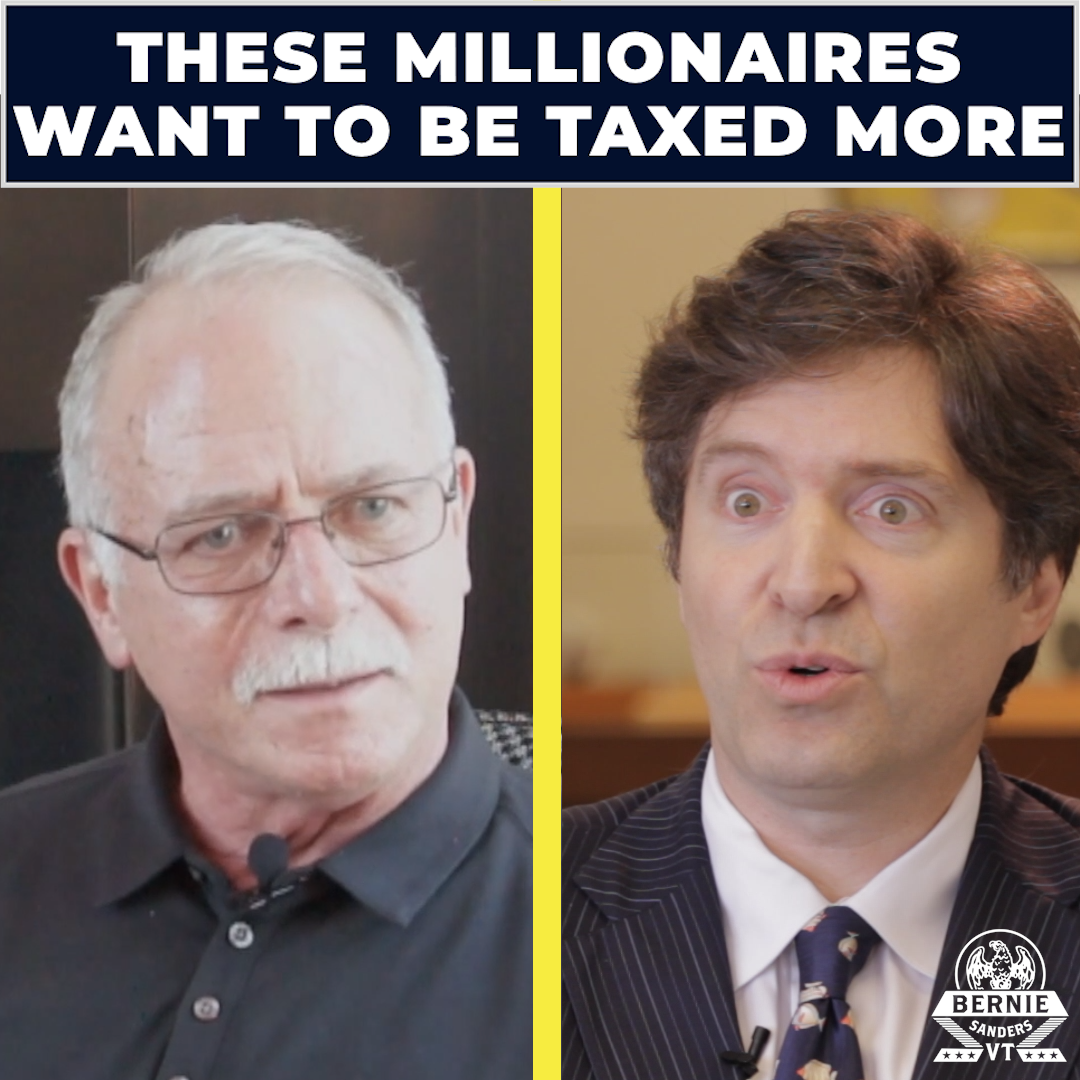 """Tax me!"" Let's listen to these Patriotic Millionaires who want their taxes raised, not cut."