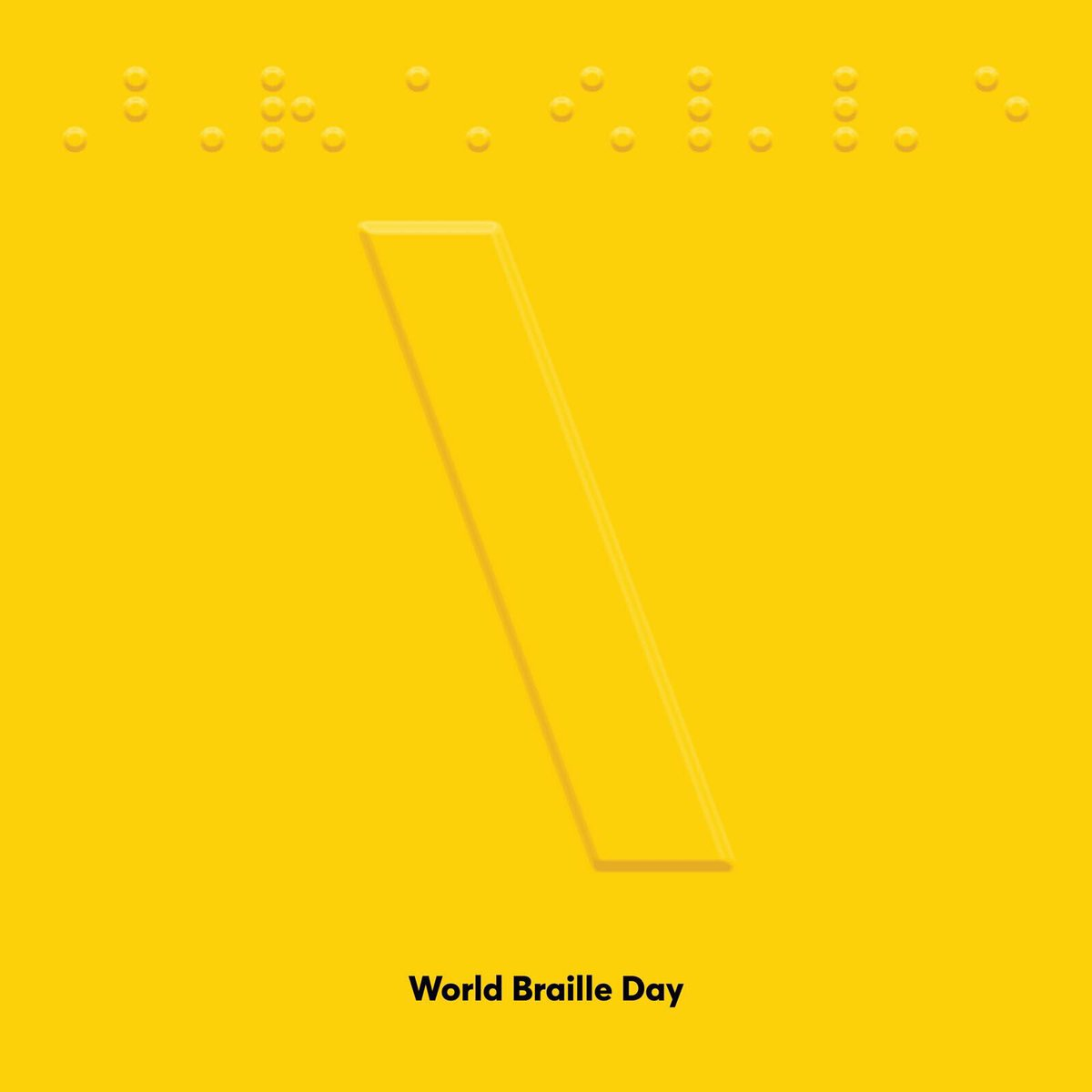 Today is #worldbrailleday which celebrates the life and achievements of Louis Braille who lighted the way of millions of blind people to be educated  #tbwa #advertisingagency #louisbraille #kuwait #backslash #yellow https://t.co/HdbKcqeGyh