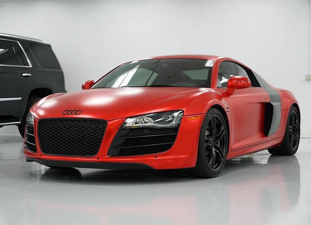 Metrorestyling Com Na Twitteru When There Is No Filter Needed Audi R8 Wrapped By Praxis Motorsports In A Custom Adgraphics Na Frozen Satin Red Chrome Material Provided By Metrorestyling Metrorestyling Wraplocal Vinylwrap Carwrap