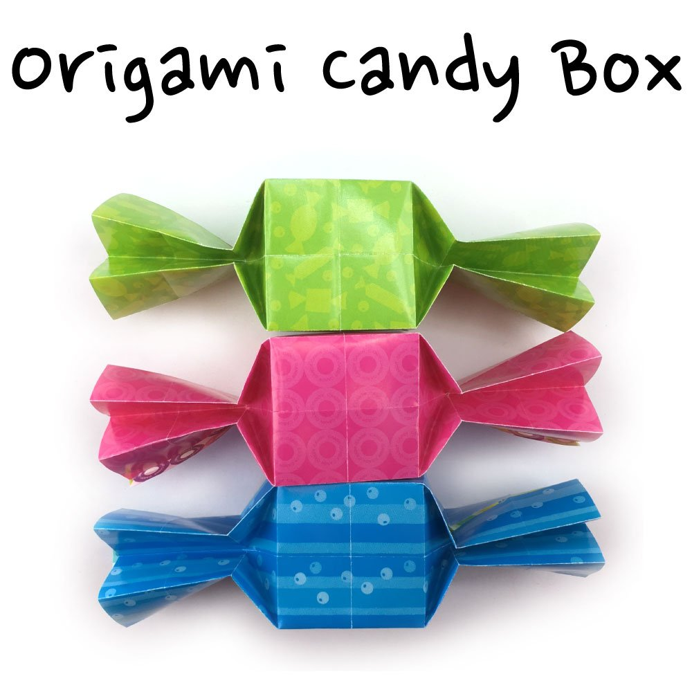 How to make an easy origami candy: page 1 | 1000x1000