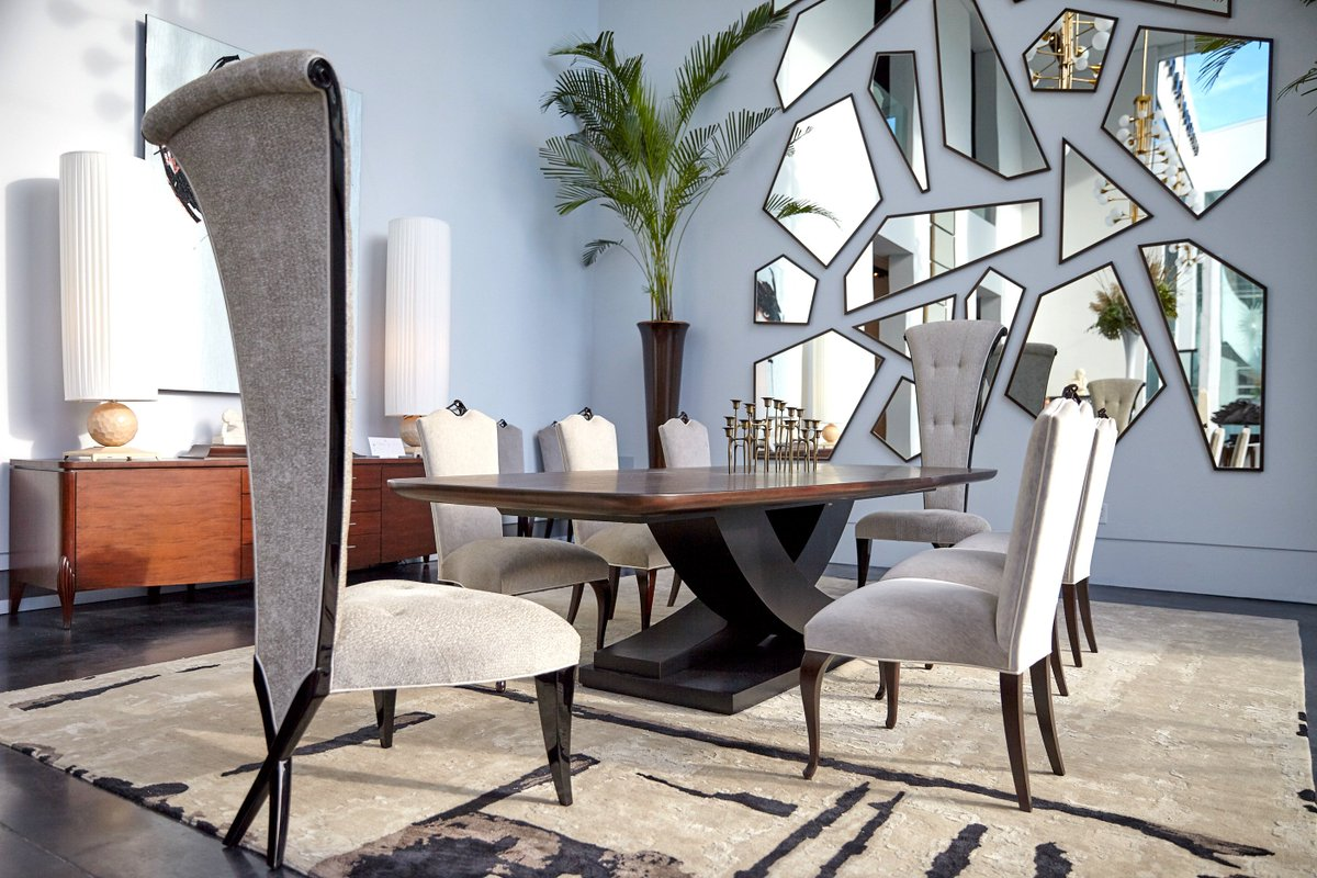 Impress Your Dinner Guests With Our #luxurious Dining Table  Http://set.Discover Our Dining #tables And #chairs Collection On  Http://www.christopherguy.com ...