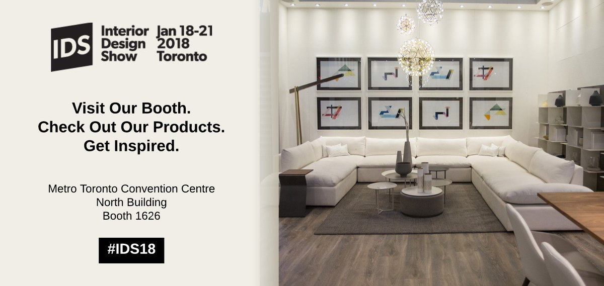 Weu0027ll Be At The Toronto Interior Design Show This Month. If Youu0027re  Attending, Be Sure To Visit Our Booth And See Our Featured Products  @IDStoronto ...