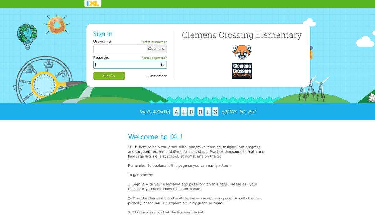 Clemens Crossing ES on Twitter: \