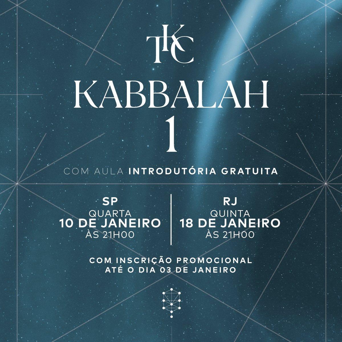 Já estão abertas as inscrições do curso O Poder da Kabbalah 1 para o início deste ano. Marque aquele amigo que sempre quis conhecer sobre a Kabbalah e o convide para participar da nossa aula introdutória GRATUITA. https://t.co/4IQWtpiDbM