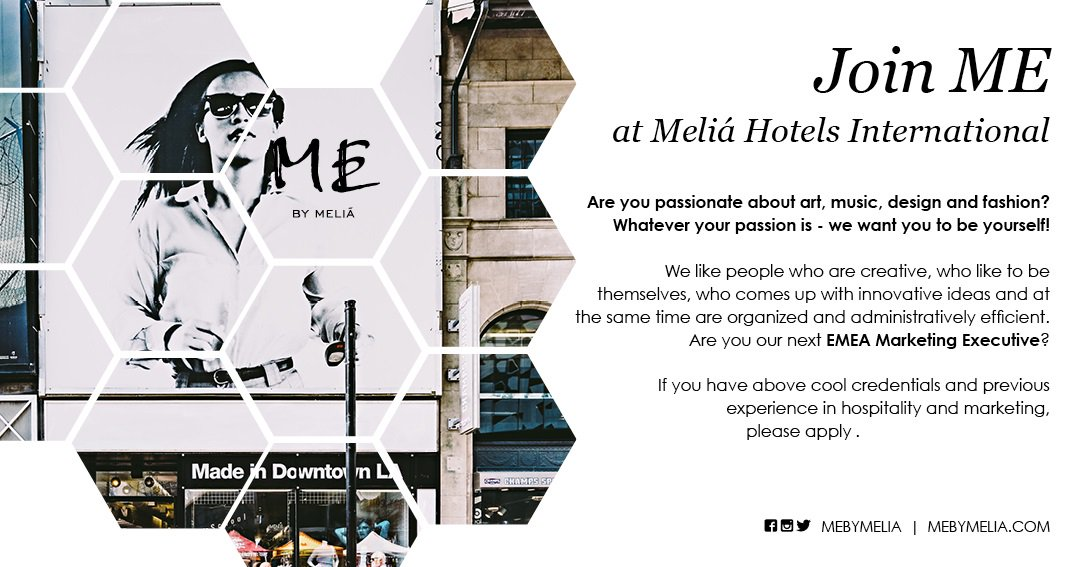 Melia Careers On Twitter Are You Our Next Emea Marketing Executive Join Me At Hotels International Https T Co 8te3f3k3nt Meliaemea