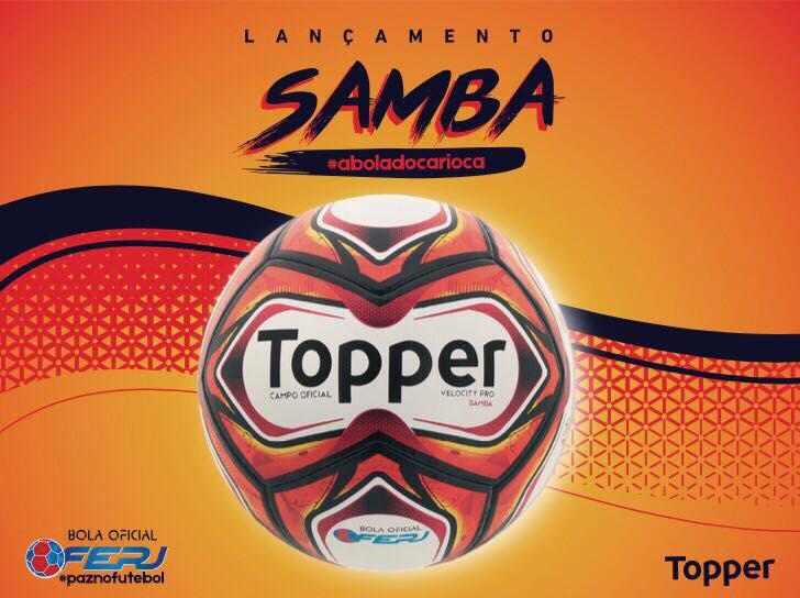 En Brasil se presentó la Topper Samba, la pelota oficial del Campeonato Carioca 2018