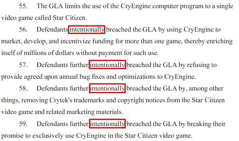 CryTek v CIG/RSI