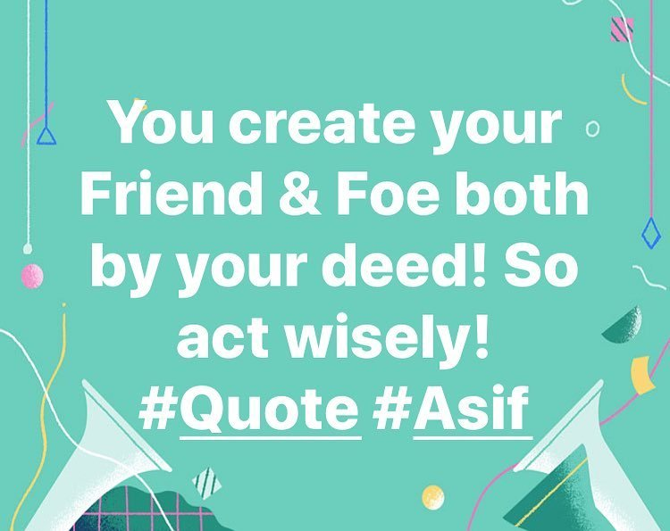 test Twitter Media - You create your Friend & Foe both by your deed! So act wisely! #Quote #Asif #Quotation #friend #foe #deed #Facebook #action https://t.co/sKZCCecIGf https://t.co/AnG9PkquH3