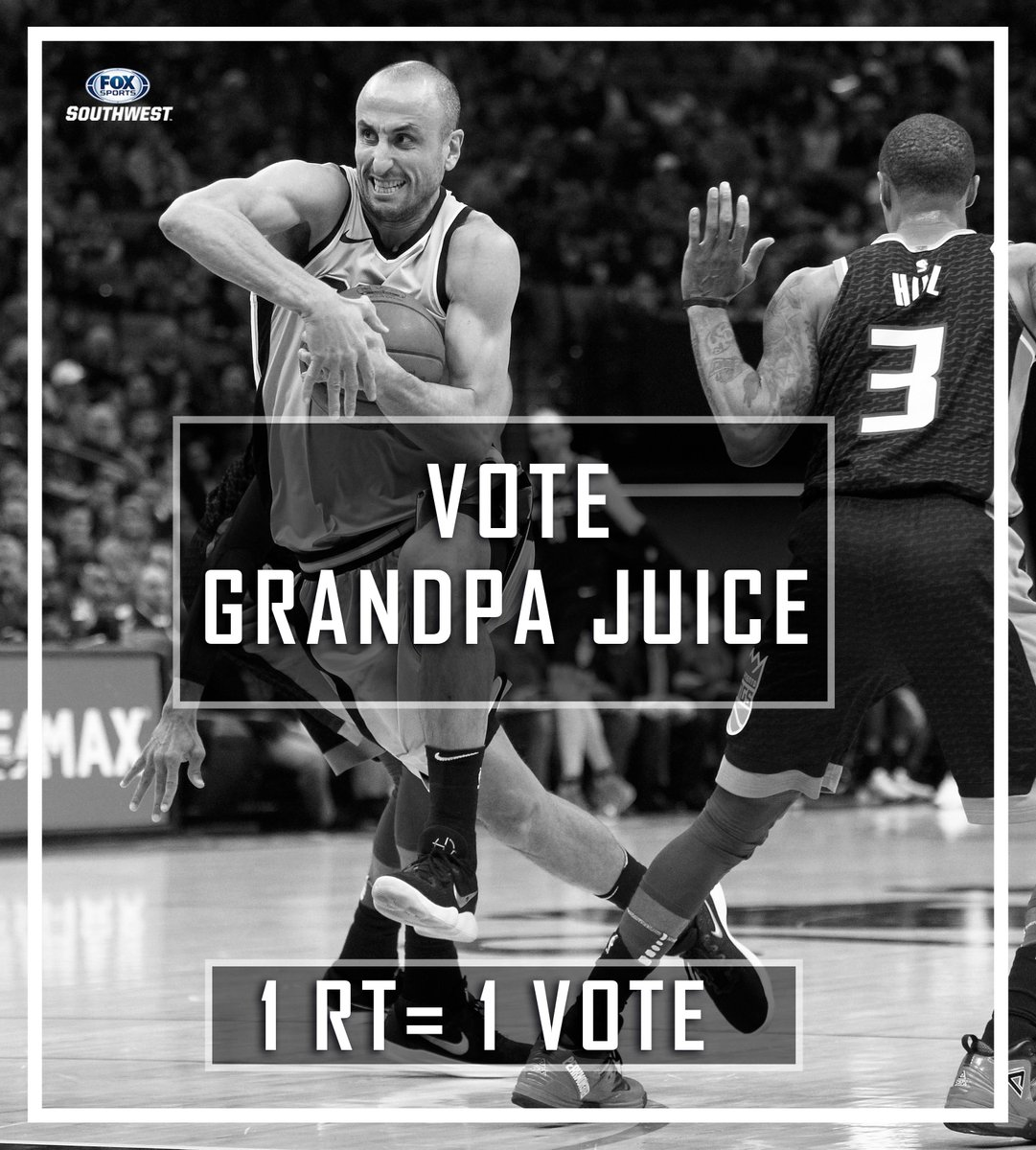 Alright @spurs fans! You know what to do!   1 RT= 1 VOTE for @manuginobili #NBAVOTE
