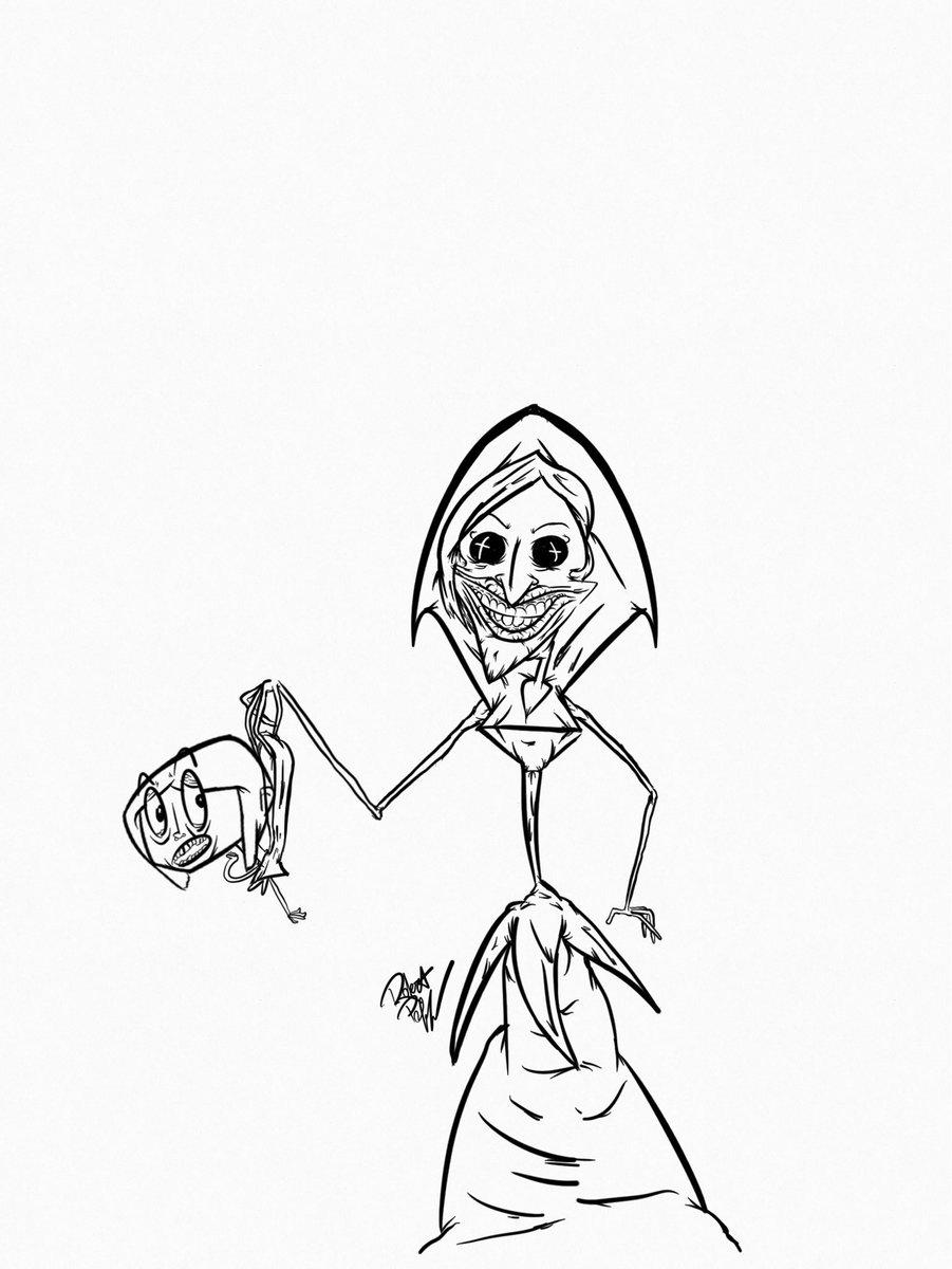 Robert Poff On Twitter Quick Sketch For Today Coraline Beldam