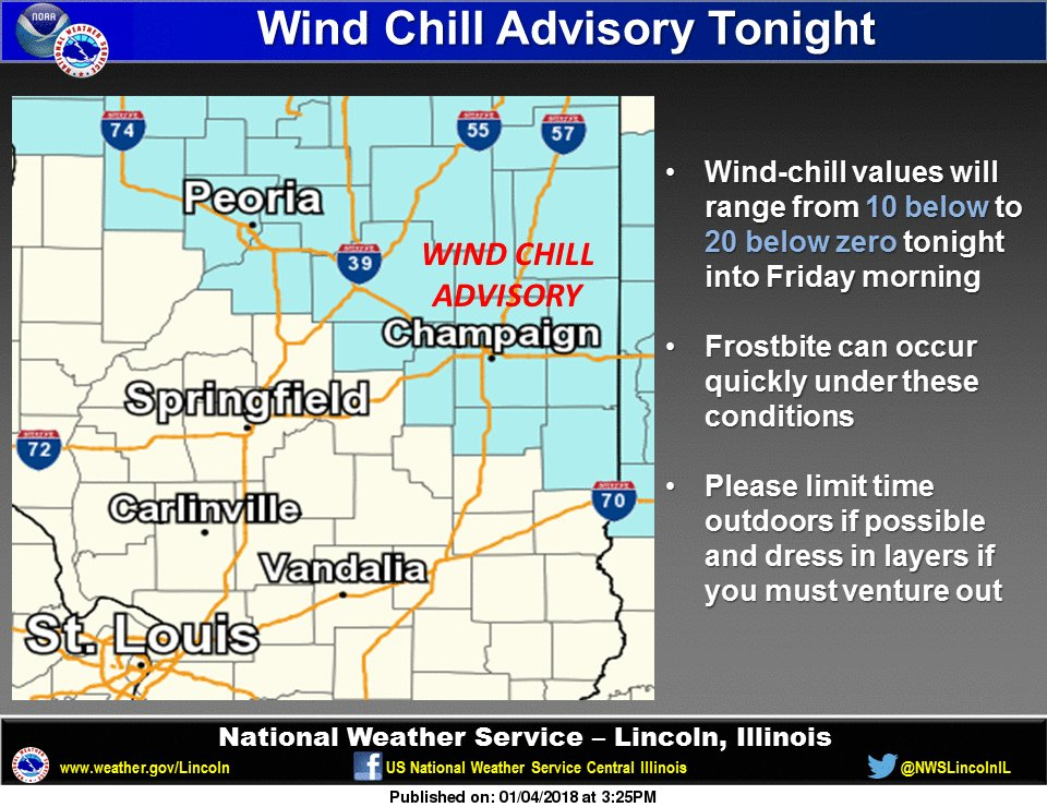 NWS Lincoln IL On Twitter Wind Chills Will Drop To Between - National weather service lincoln illinois