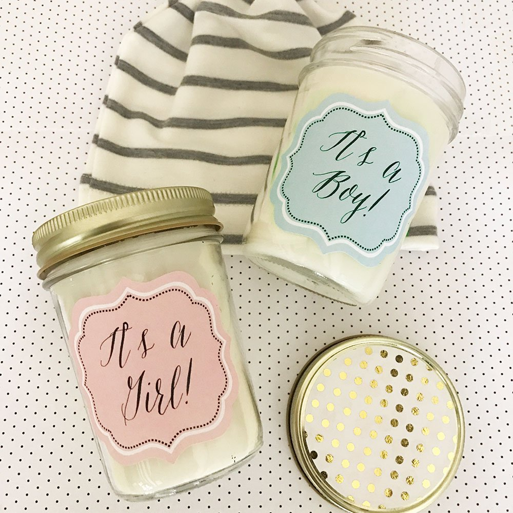 welcoming the new year with a new baby weve got you covered baby masonjar masonjarcandle candle babyshower gift