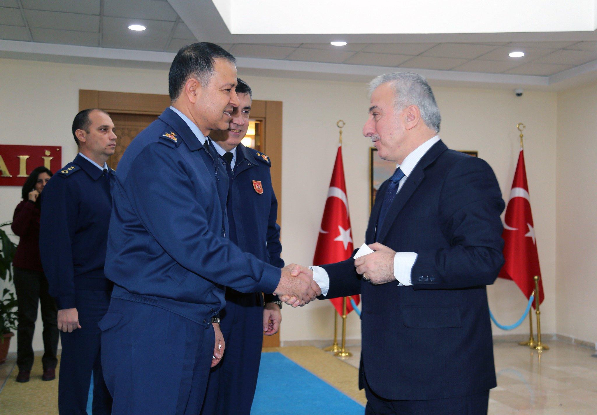 """T.C.Kayseri Valiliği a Twitter: """"Hava Kuvvetleri Komuntanlığından Daire Başkanı Tuğgeneral Ali Serin, Vali Kamçı'yı ziyaret etti… """""""