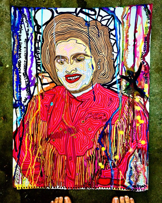 My Patsy Cline painting I just finished. https://t.co/XfTlFJfLzw