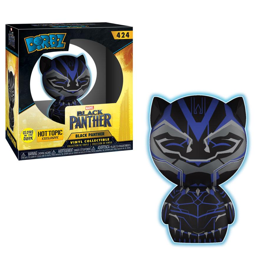 RT & follow @OriginalFunko for the chance to win a @HotTopic exclusive glow-in-the-dark Black Panther Dorbz!