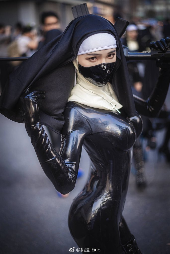 Sexy latex cosplay right!
