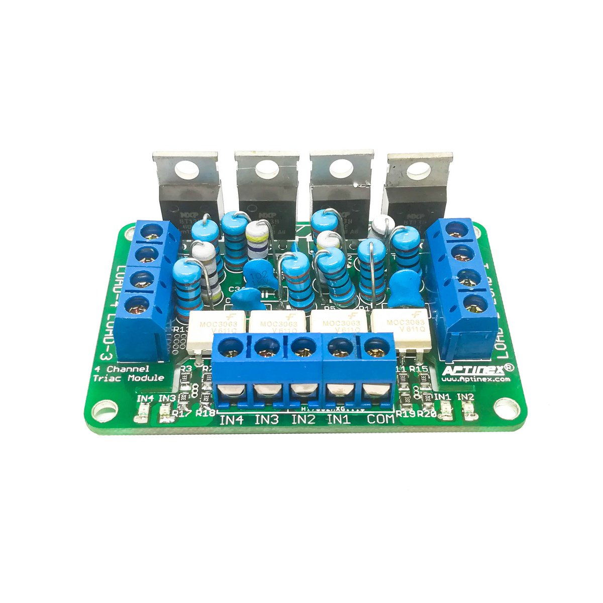 Aptinex Pvt Ltd On Twitter Four Channel Opto Isolated Triac Circuit Module Based Moc3061 Bt139 Max Ratings Per 600v 16a Phototriac Driver Moc3063 Https Googl Kaspdz
