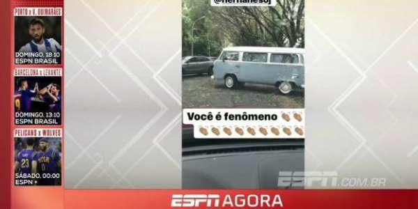 Hernanes chega de Kombi em treino do São Paulo https://t.co/jpJcvR6dfh