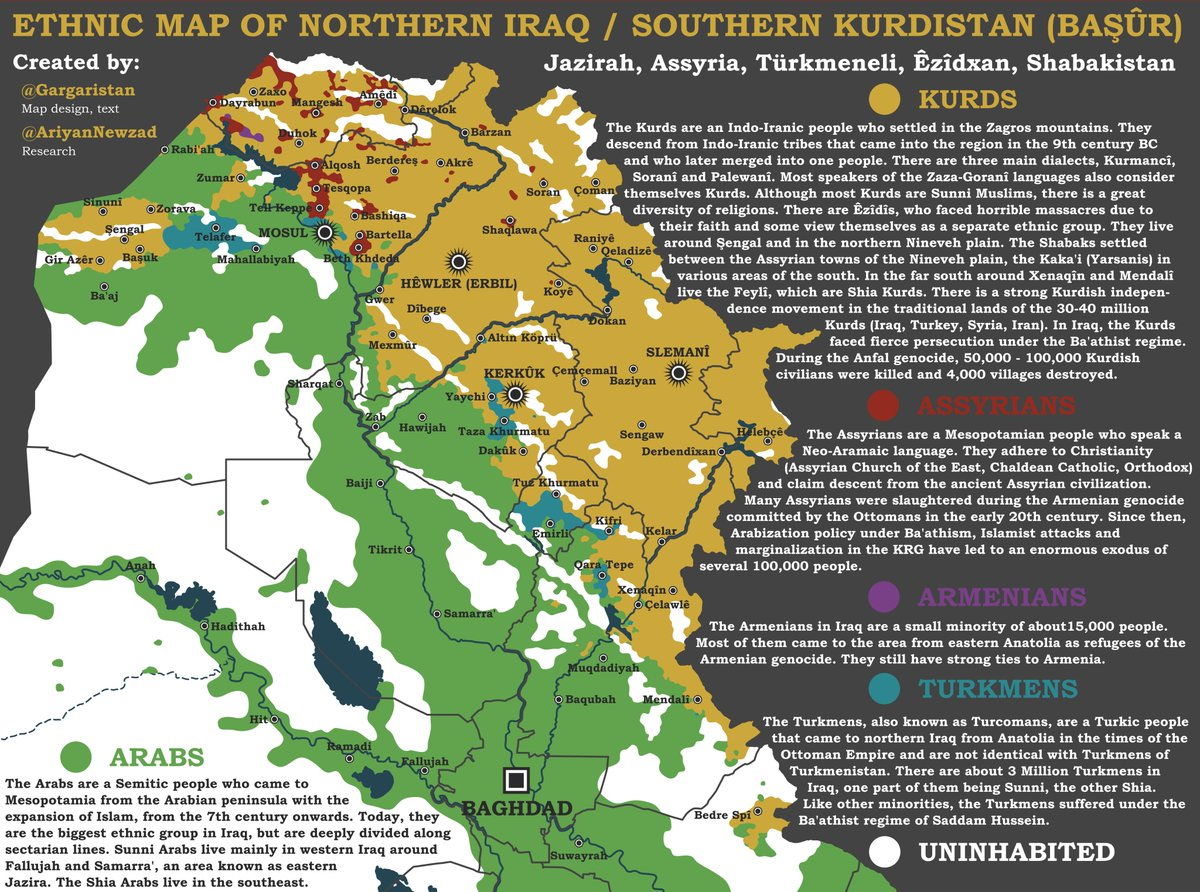 Gargari on Twitter Ethnic map of Northern Iraq Southern