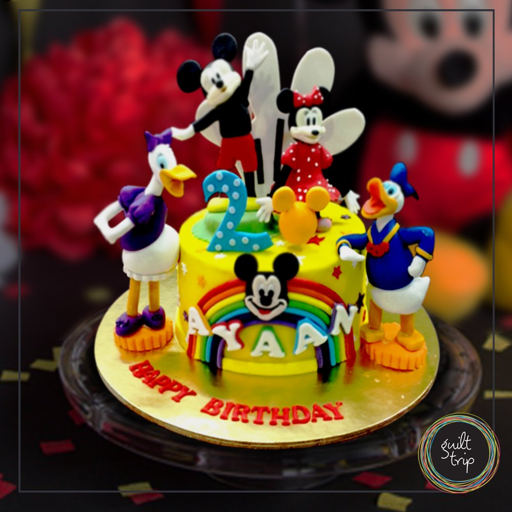 Order This Amazing Disney World Customized Cake For Your Little One Only From Guilt Trip Dessert Cupcake Celebration CartoonCake Cartoons