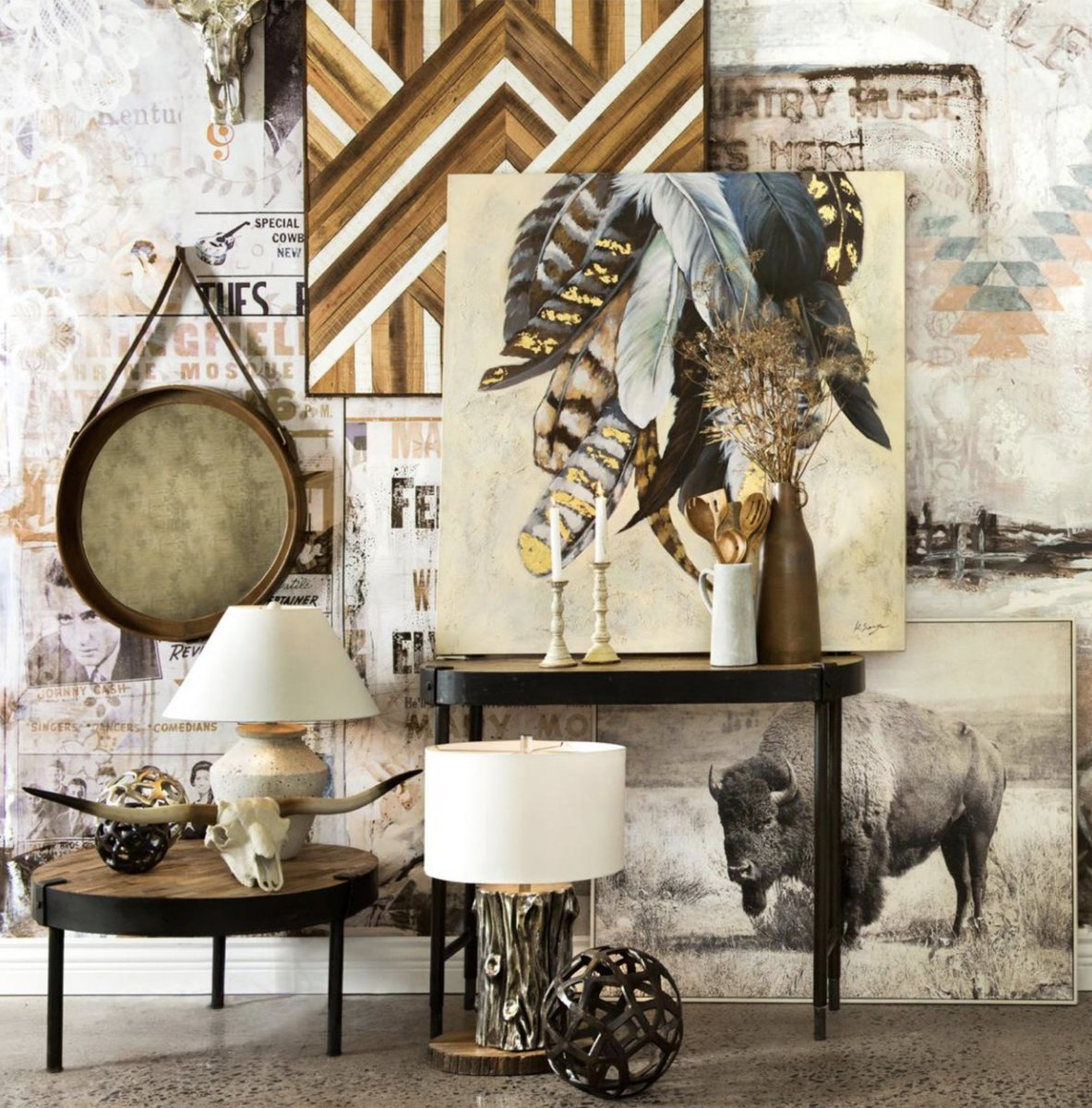 Bring a little nature into your palette is pretty easy and fun we love mixing our light and dark natural woods into one space