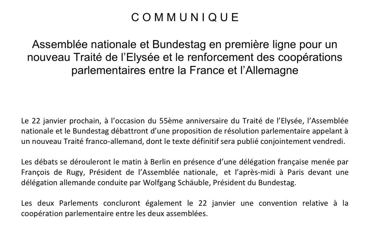 Francois De Rugy On Twitter L Assemblee Nationale Et Le Bundestag