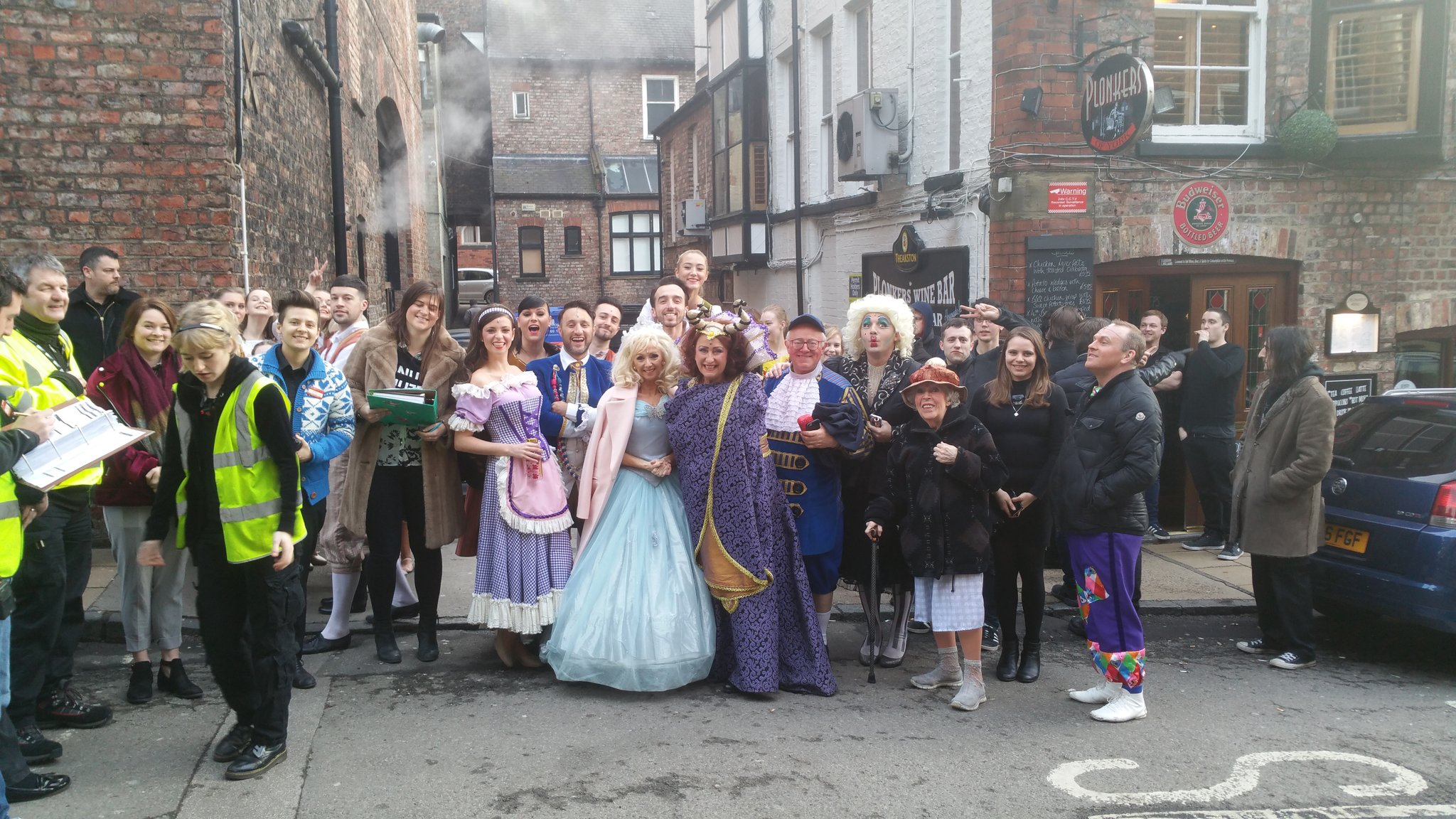 When the panto theatre is evacuated mid show it becomes fun in the street 😊😊😊 https://t.co/BRXgp7urRo