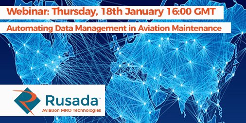 In the coming years, aviation maintenance teams will be expected to deliver greater aircraft availability under more demanding circumstances. During our webinar session we explore how data automation can support aviation maintenance teams. Find out more. https://t.co/0sxamJ0xrp