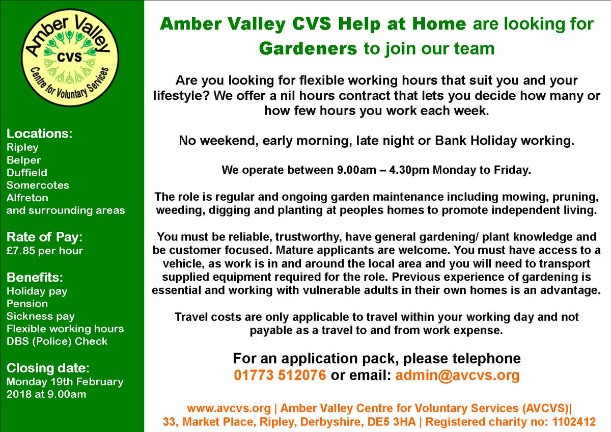 Amber Valley CVS on Twitter: \