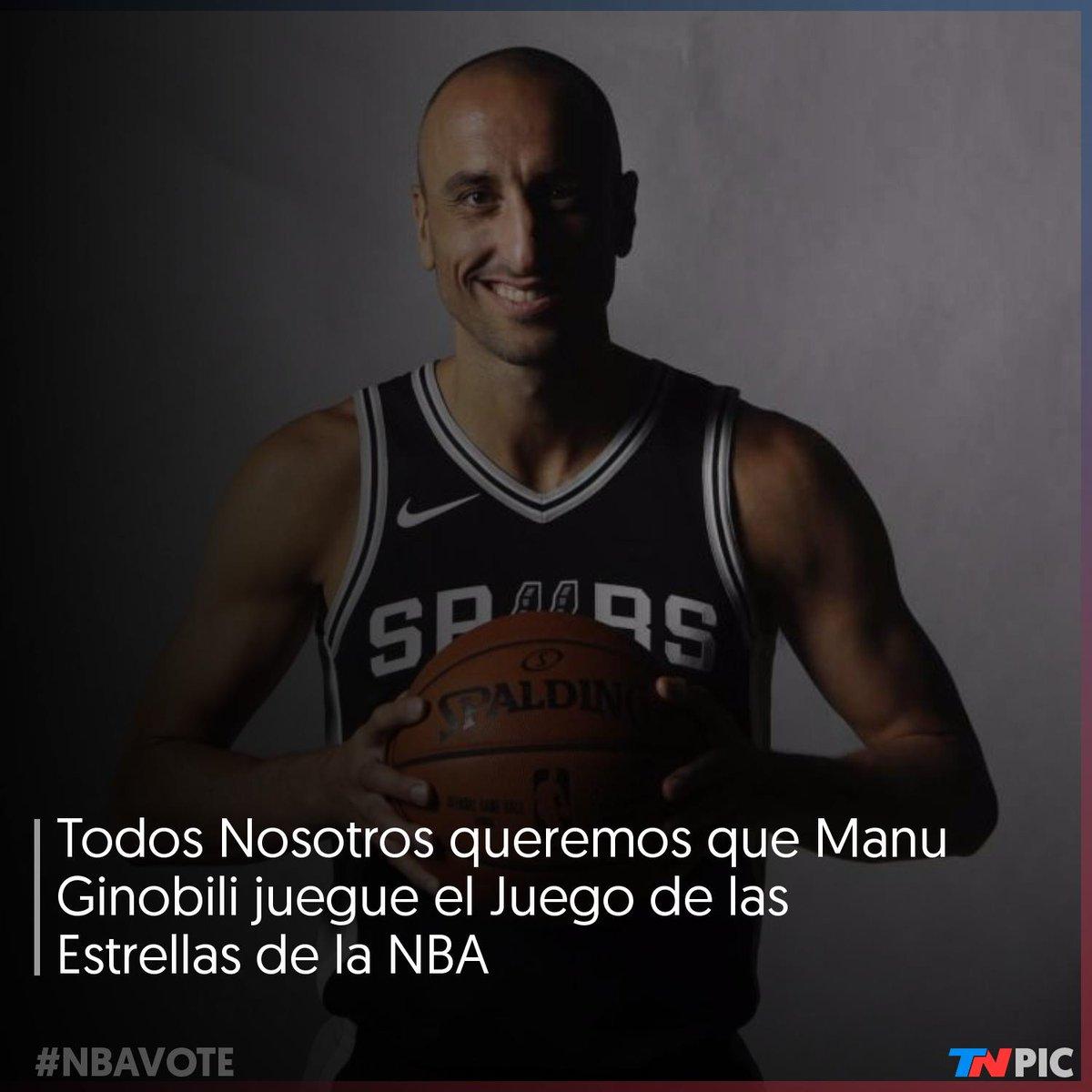 Todos Nosotros queremos que @manuginobili esté en el Juego de las Estrellas de la NBA.  Por cada RT que des, Manu suma un voto  Manu Ginobili #NBAVote