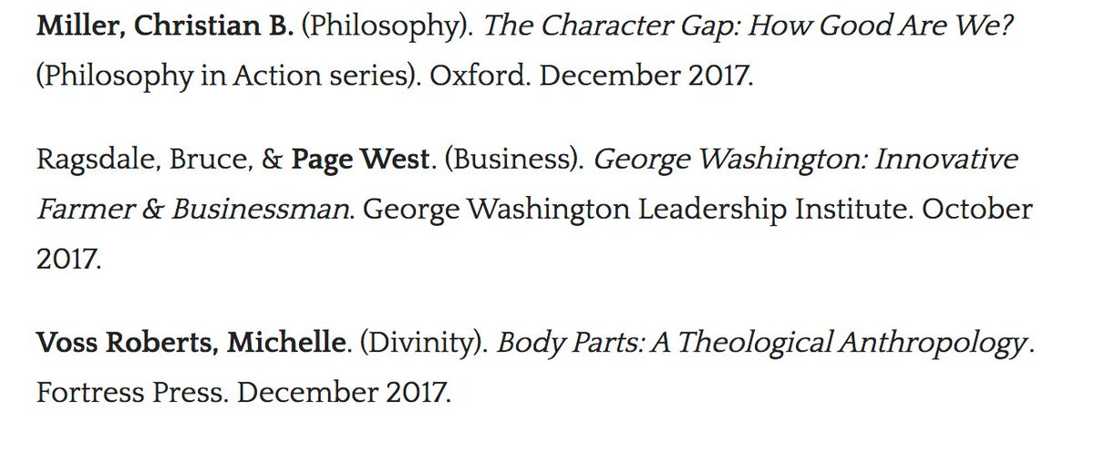 Congrats to @WakeForest faculty on recently published books 🎉 🎩 📚 https://t.co/x7Ecc3WEmH #philosophy @WakeForestBiz @WakeDiv #WFUresearch