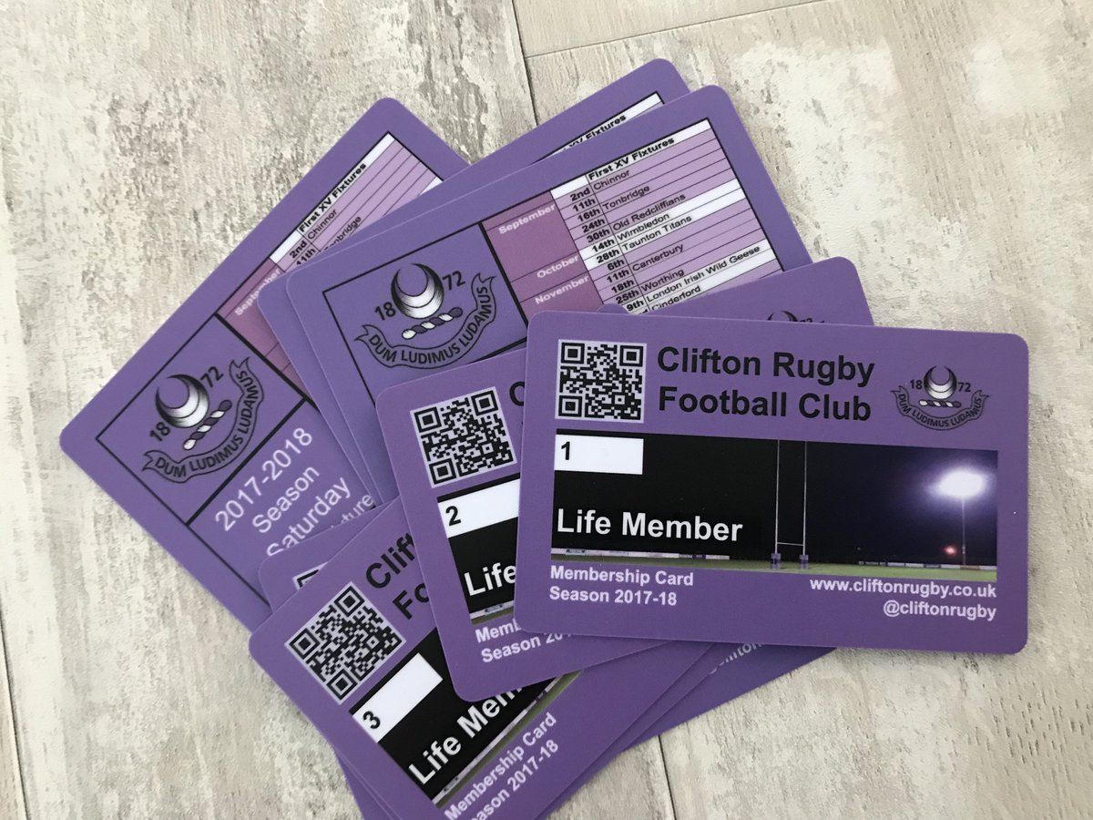 Motion printing on twitter thanks clifton rugby football club for motion printing on twitter thanks clifton rugby football club for ordering sequentially numbered membershipid cards they are lovely and bright reheart