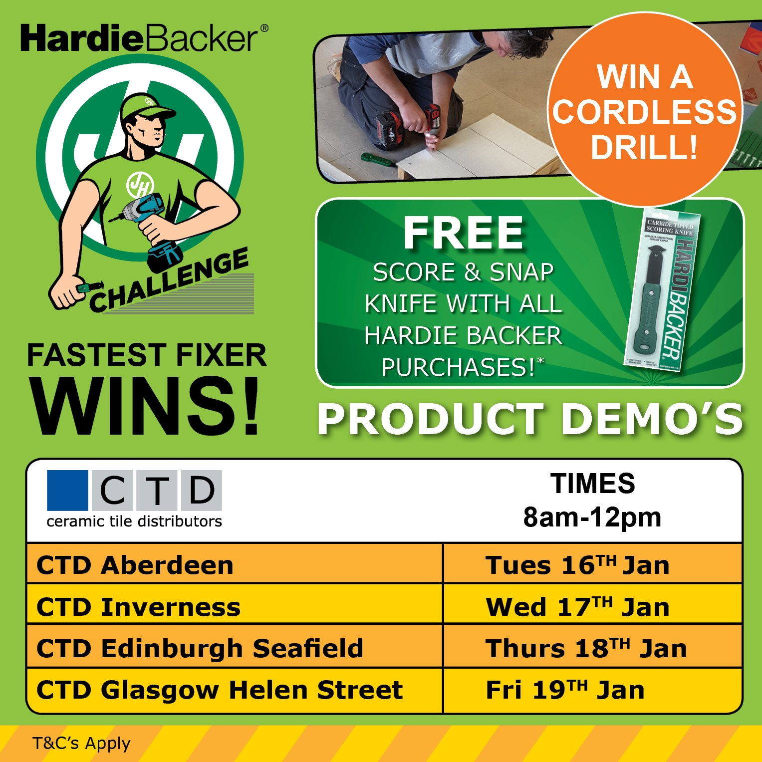 Ctd trade on twitter are you ready for a challenge take part in ctd trade on twitter are you ready for a challenge take part in the hardiebacker challenge to win a cordless drill coming to ctd branches across dailygadgetfo Image collections