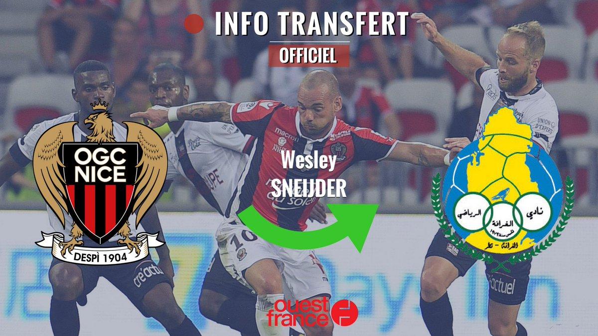 #MercatoOGCN #OGCN #Ligue1 6 mois plus tard, Sneijder quitte Nice pour Al Gharafa !  https://t.co/oUsVscUxMB
