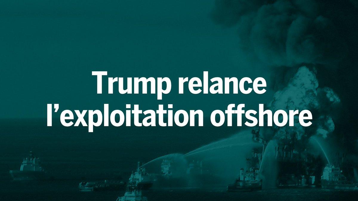 L'administration Trump a fait part jeudi de son intention d'ouvrir la quasi-totalité des eaux littorales des Etats-Unis à l'exploitation du pétrole et du gaz offshore. - LE MONDE