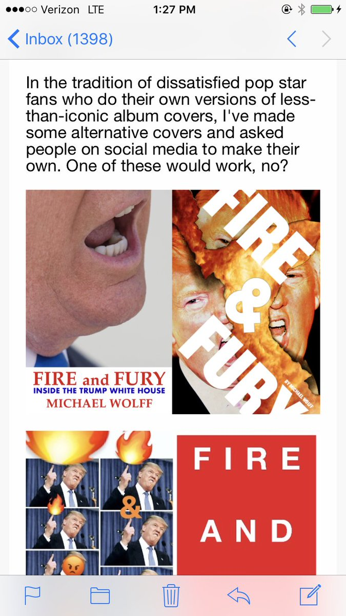 Because the real 'Fire and Fury' book cover is kinda boring, we made some fan-made versions https://t.co/1UIYkqN8qt