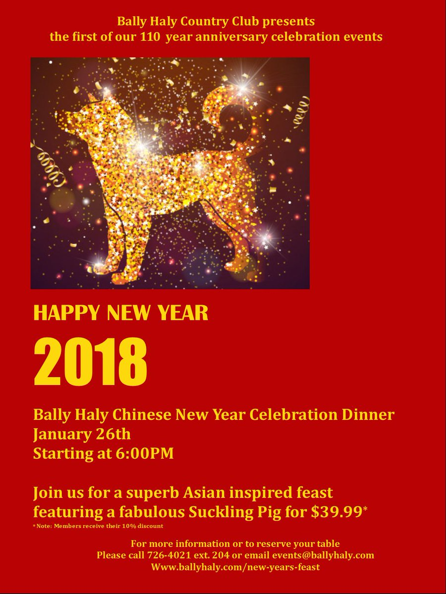 on january 26th we will be offering an asian inspired buffet featuring a delicious roasted pig visit httpwwwballyhalycomindexphpnew years feast