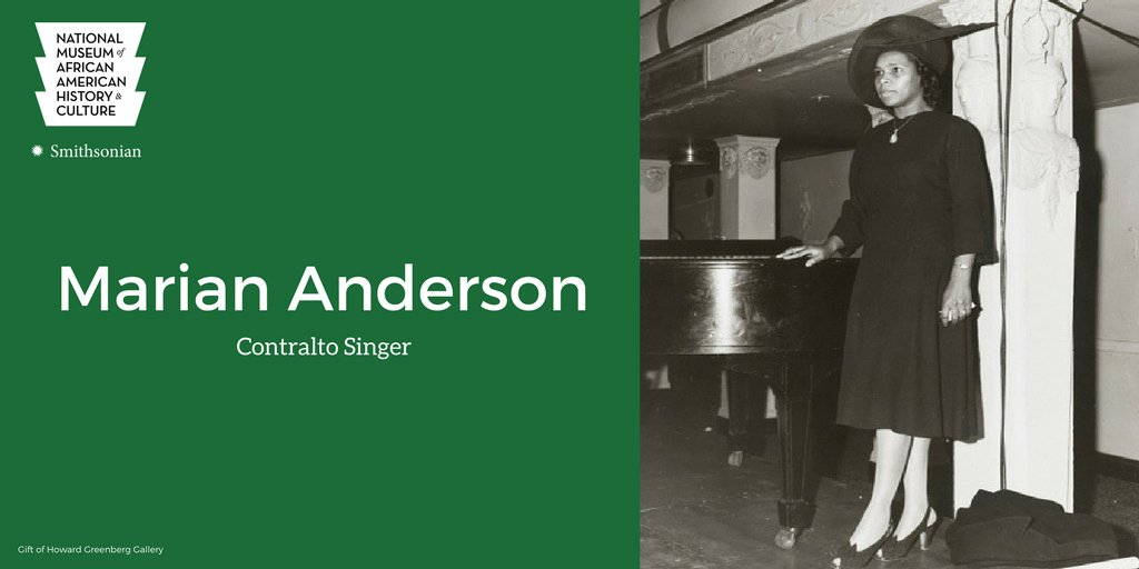 Smithsonian NMAAHC On Twitter OTD In 1955 Singer Marian Anderson Became The First African American Soloist To Perform At Metropolitan Opera New