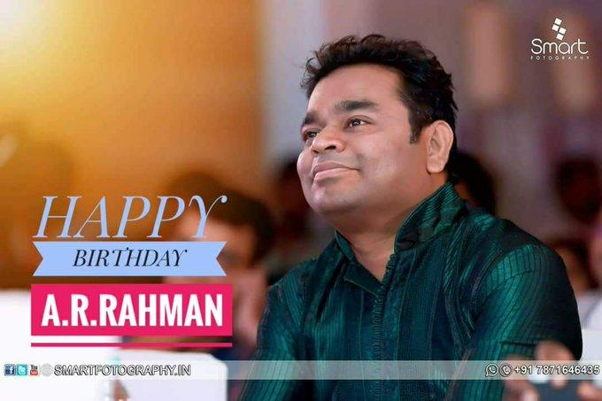 Indian music director a.r.rahman sir 51th very very happy birthday sir