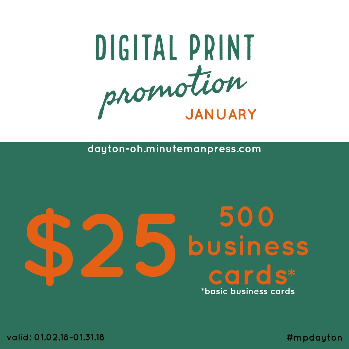 Minuteman press on twitter januarys digital print promotion 500 minuteman press on twitter januarys digital print promotion 500 businesscards for 25 dayton mypdayton shopdayton minutemanpress print promo reheart Gallery