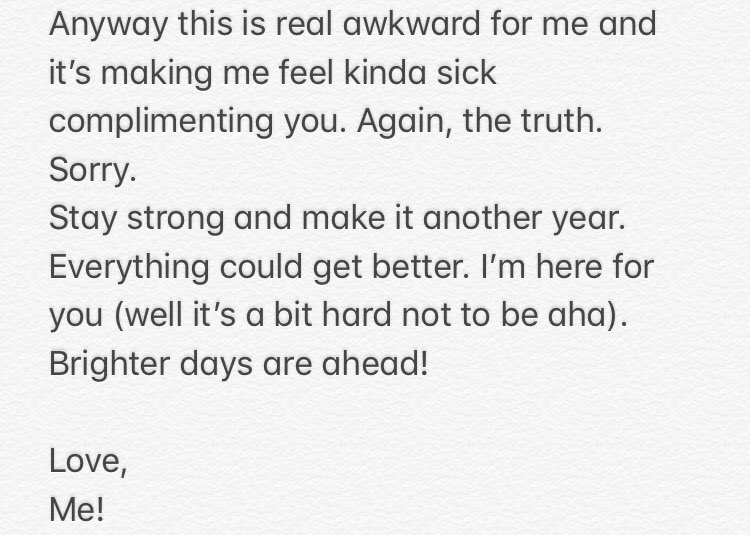 January Self Care Hereu0027s My Love Letter To Myself. Kinda Bad But Itu0027s Hard  When You Hate Yourself. But I Tried. I Just Typed It Up To Share It.
