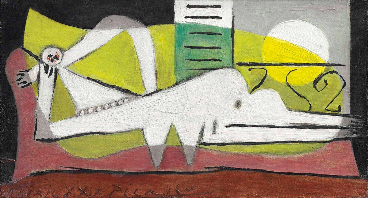 Pablo Picasso - femme couche, #DonneInAr...