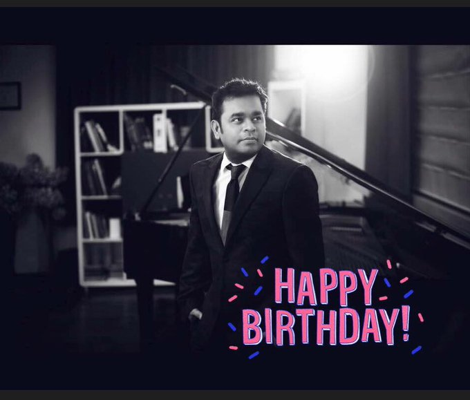 He\s not just a Man to India,A Treasure, A legend who made India Proud. Happy Birthday -A.R. Rahman sir.