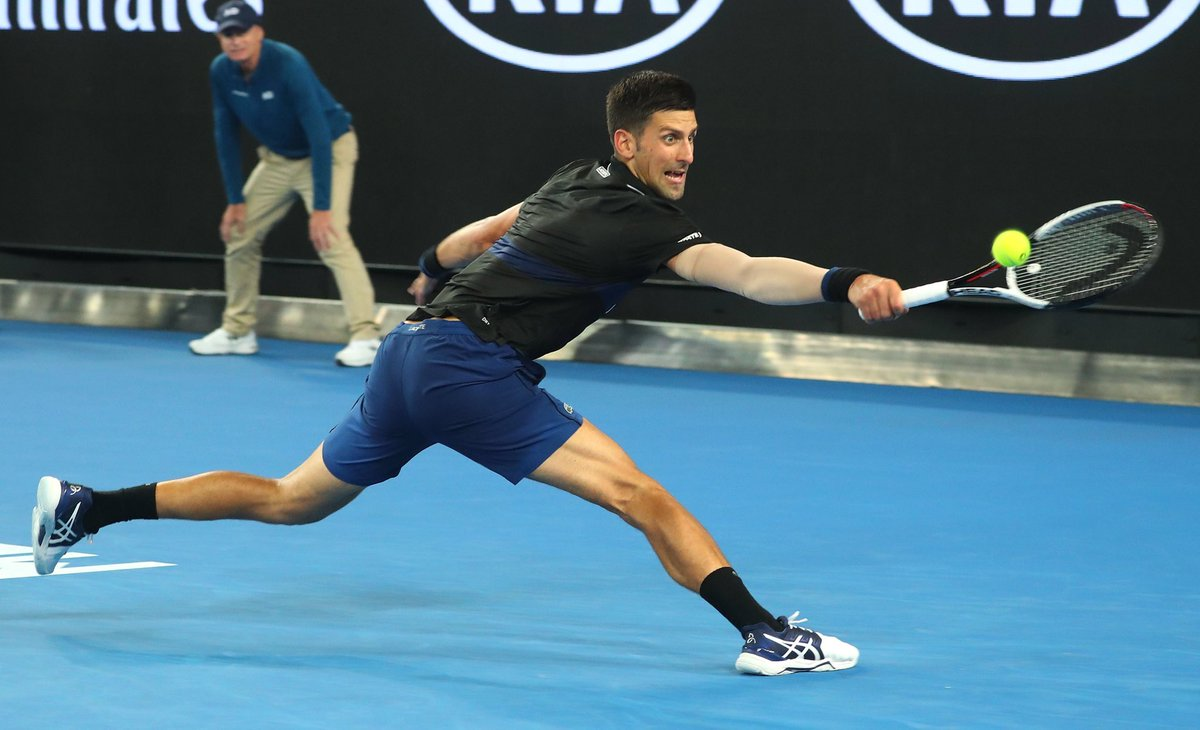 Asics Tennis On Twitter Novak Has Booked His Spot In The Last 16 At The Ausopen After Dispatching Ramos Vinolas Imoveme Asicstennis Gelresolutionnovak Gettyimages Https T Co 1rvmfwd56o