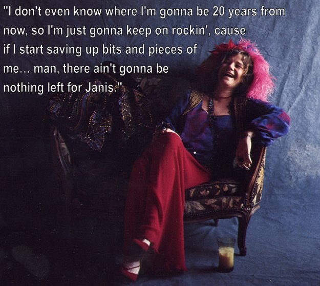 Quote of the day... #HappyBirthdayJanisJoplin #bornonthisday https://t.co/rpU6LOOTJq