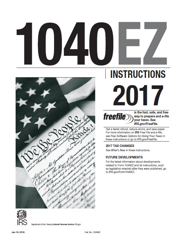 Income Tax Pro On Twitter 2017 Form 1040ez Instructions For The