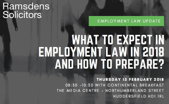 Our @RamsdensEmploy team are hosting a free #employment update @themediacentre 15/2, book your tickets here  https://www. eventbrite.co.uk/e/what-to-expe ct-in-employment-law-in-2018-tickets-42119355125?aff=escb&amp;utm-medium=discovery&amp;utm-campaign=social&amp;utm-content=attendeeshare&amp;utm-source=cp&amp;utm-term=eventcard &nbsp; …  or visit  https://www. ramsdens.co.uk/events-media/w hat-expecrt-employment-law-2018 &nbsp; …  for more information<br>http://pic.twitter.com/lrGLXST6FM