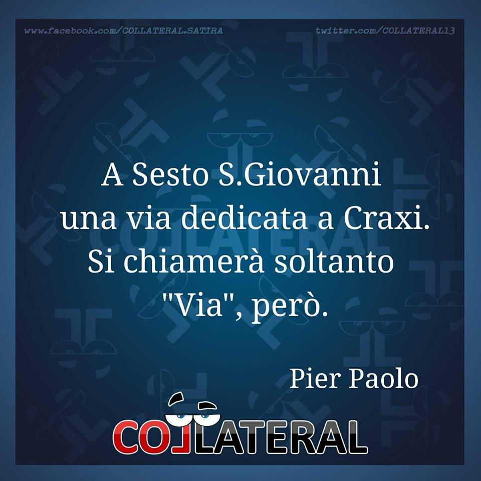 RT @COLLATERAL13: #sestosangiovanni #craxi #via - @DianPierPaolo https://t.co/TejLKKEsGk