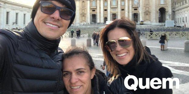 Rodrigo Faro e Vera Viel levam babá das filhas para conhecer o Vaticano: 'Família'. https://t.co/bXzO5htMJj