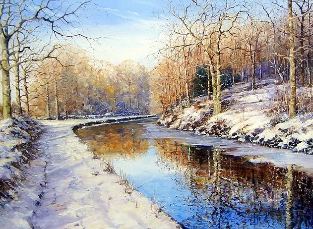 RT @GabrielaLureti: 'Gothersley In Snow' by Michael Salt #art https://t.co/aJWLkqBKT9